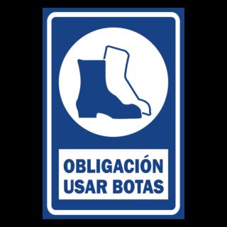 SENALETICA OBLIGACION USAR BOTAS