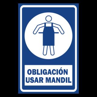 SENALETICA OBLIGACION USAR MANDIL