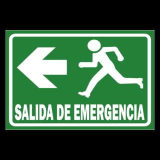 Senaletica Salida de Emergencia Izquierda
